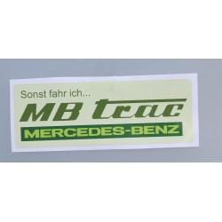 MB-TRAC Aufkleber Sonst...