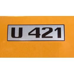 Unimog 421 Typ Schriftzug...